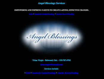 Angel Blessings Services website design